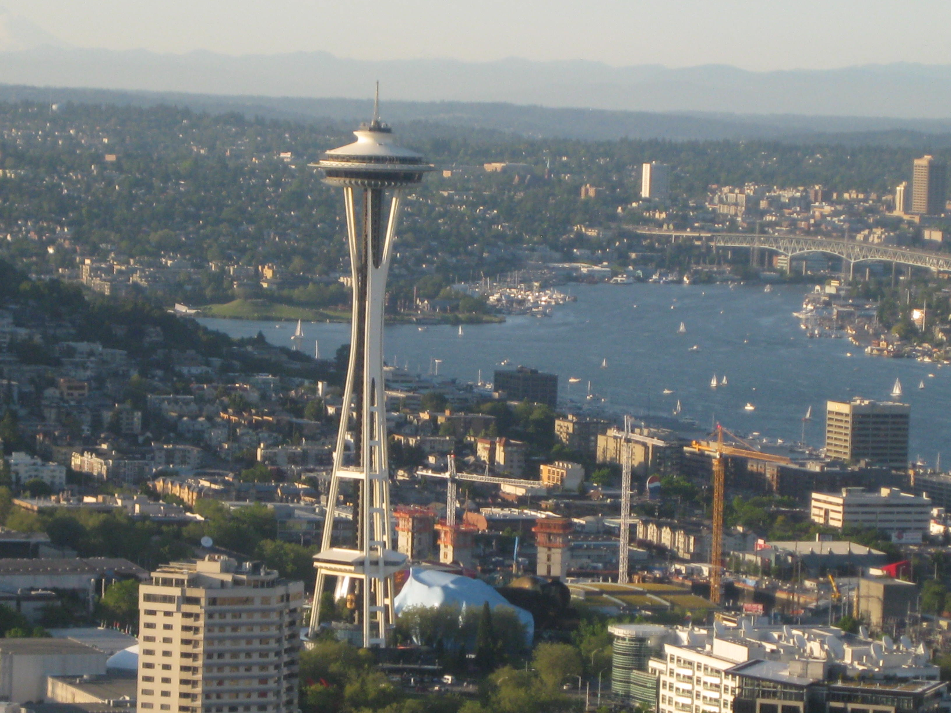 Space Needle and Lake Union