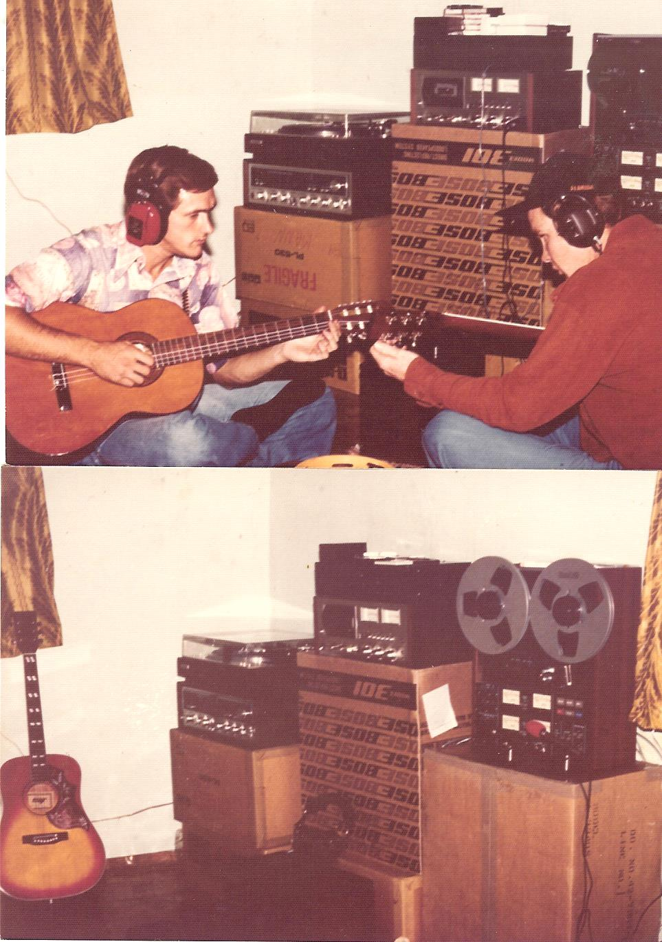"Larry and I recording ""My Leaving"""