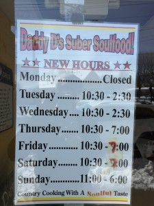 Daddy D's Suber Soulfood in Hendersonville, N.C.