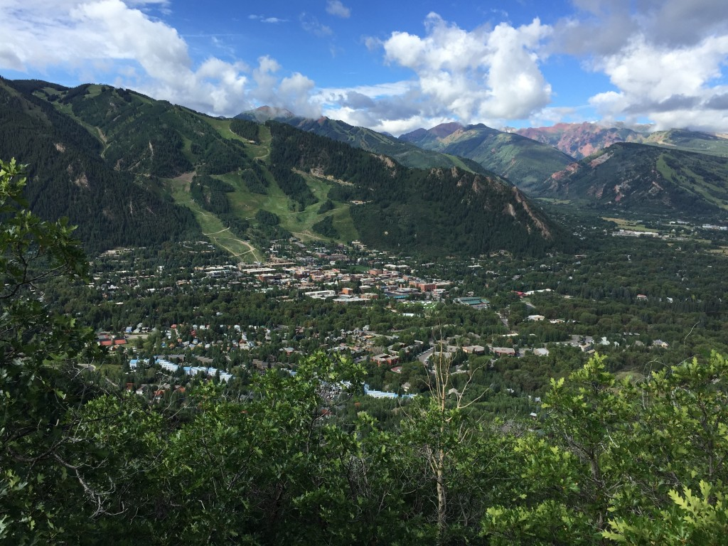 View of Aspen from Smuggler's Run Overlook