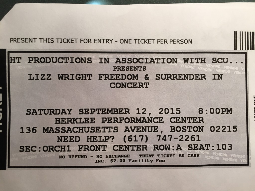Freedom and Surrender Concert Ticket