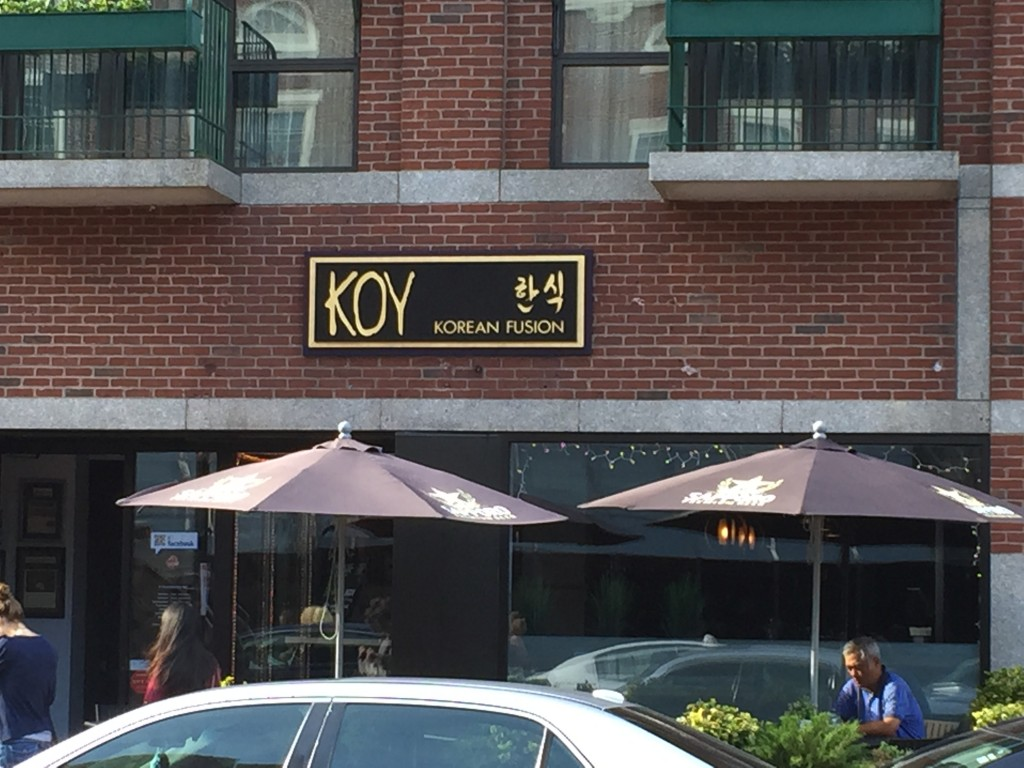 Koy, a Korean Fusion Restaurant, owned by Danny (Chang, Yong Sol), seated to the right.