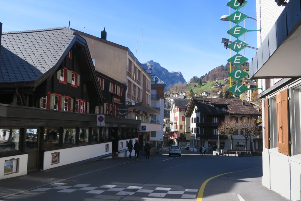 Walking around the town of Engelberg