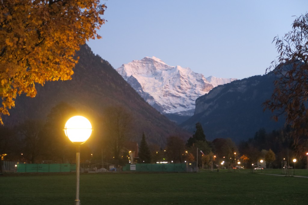 Interlaken just before dusk