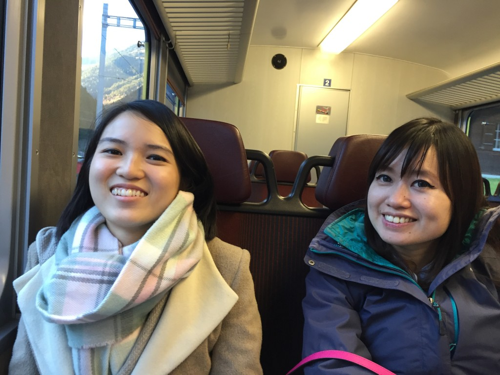 Taking the train to Interlaken