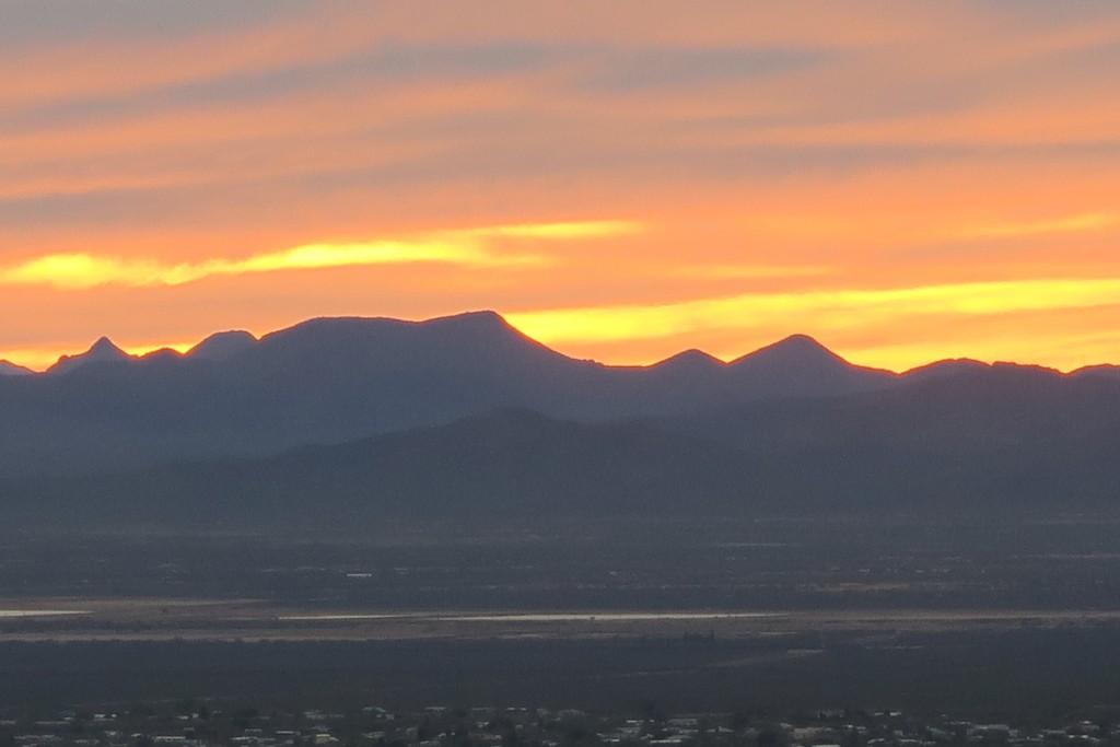 View of the sunset from Gates Pass, Arizona.