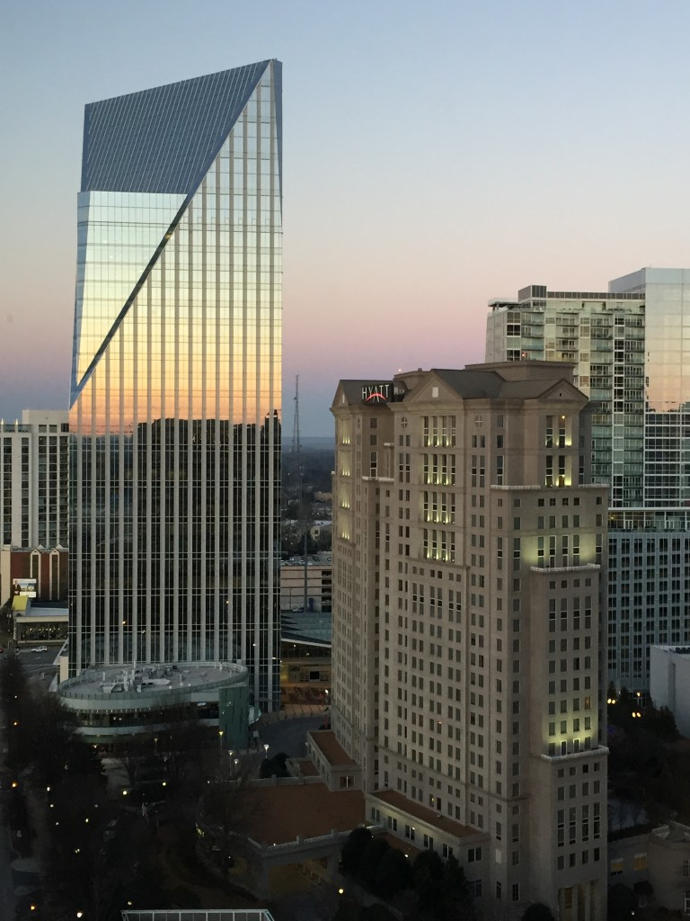 View of the Buckhead area of Atlanta, from my room at the top of the Intercontinental Hotel.